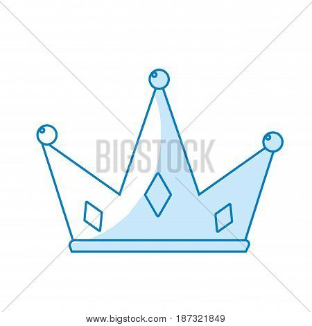 silhouette nice crown of king to glory and pawer, vector illustration