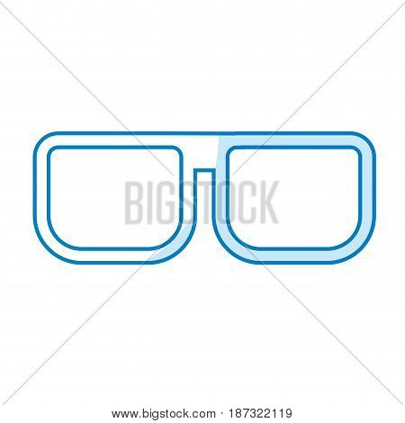 silhouette nice glasses accessory to can see, vector illustration