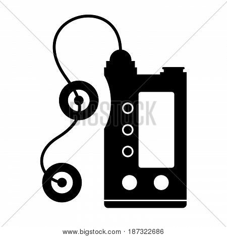 Insulin pump ( shade picture ) on white background