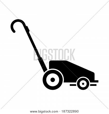 Lawn mower ( shade picture ) on white