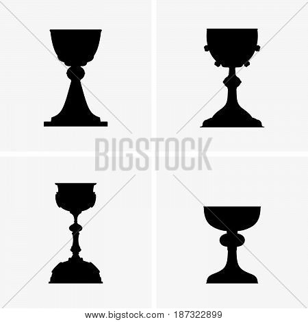Set of four chalices ( shade pictures )