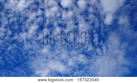 Blue sky and nice white cloud for background.