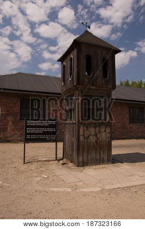Booth From The Auschwitz Concentration Camp.