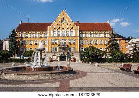 Town Hall Of Cesky Tesin.