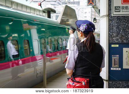 Shinkansen Railway Station In Tokyo, Japan