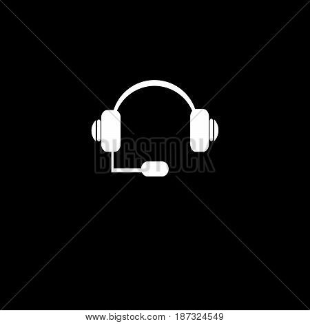 vector icon headphone call center illustration on background