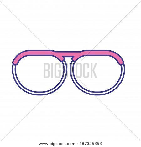 nice glasses accessory to can see, vector illustration