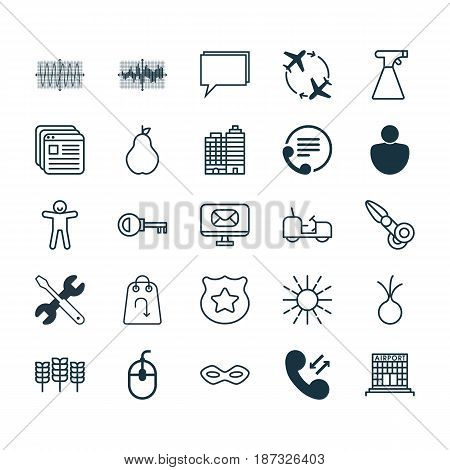 Set Of 25 Universal Editable Icons. Can Be Used For Web, Mobile And App Design. Includes Elements Such As Human, Shortcake, Garlic And More.