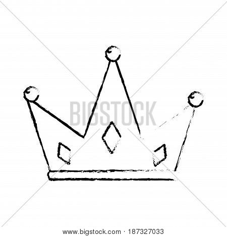 figure nice crown of king to glory and pawer, vector illustration