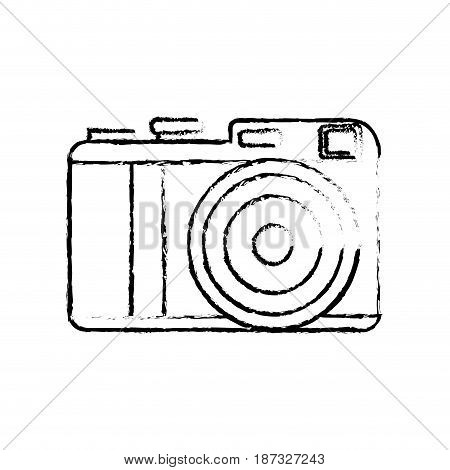 figure cute digital camera to take a picture, vector illustration