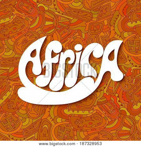 Seamless red with ornament tribal style. Africa. Vector illustration.