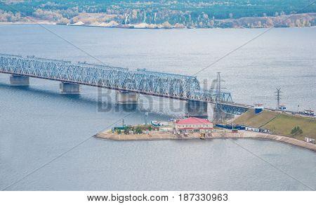 The Imperial Bridge over the Volga River in Ulyanovsk
