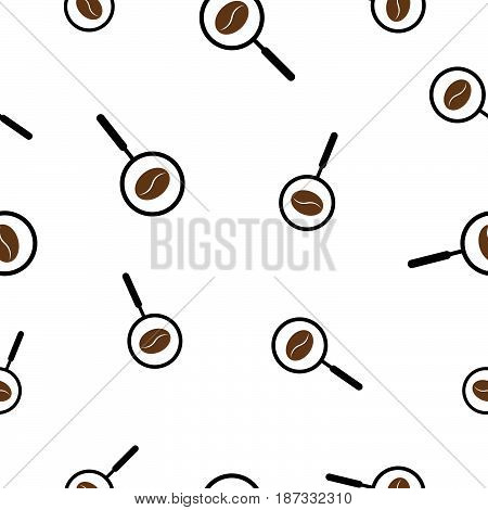 Seamless Pattern With Coffee Manifying Glass Vector Illustration