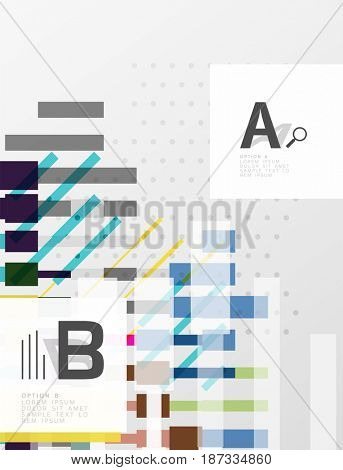 Abstract geometrical texture with infographic options. template background for print workflow layout, diagram, number options or web design banner