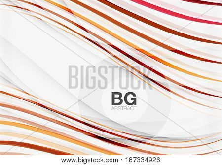 Wave lines abstract background. template background for workflow layout, diagram, number options or web design