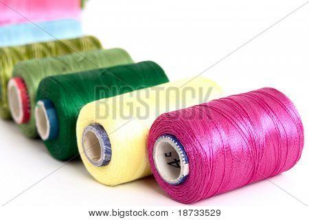 Embroidery yarn bobbins