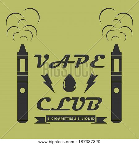 Creative logotype for the club shop or electronic cigarettes. vector