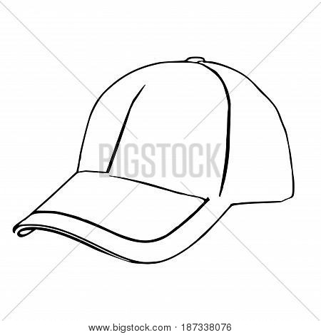 Baseball hat aka cap as an illustration that can be easily turned into vector graphics