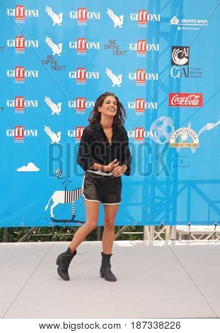 Giffoni Valle Piana Sa Italy - July 25 2014 : Giulia Michelini at Giffoni Film Festival 2014 - on July 25 2014 in Giffoni Valle Piana Italy