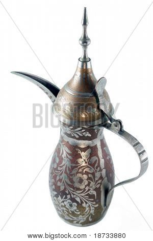 arabic coffee pot   - isolated