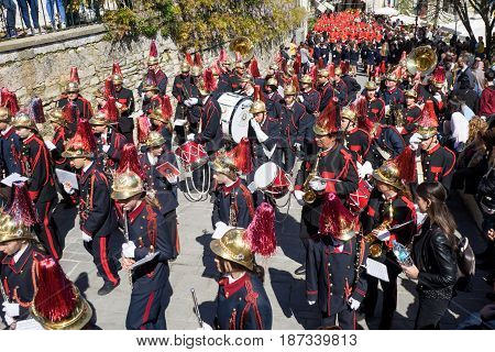 Corfu, Greece - April 9, 2017: The Procession With The Relics Of The Patron Saint Of Corfu, Saint Sp