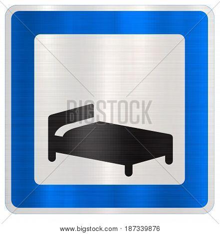 hotel motel blue traffic sign  information  highway