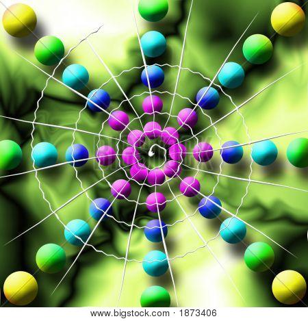Rainbow Spiderweb Balls