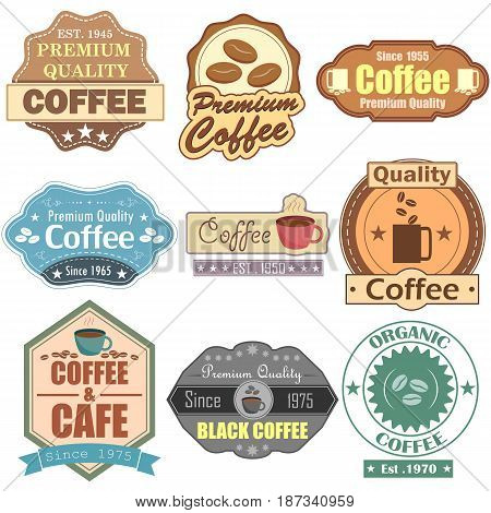 vector illustration of Premium Coffee label tag sticker for Advertisement