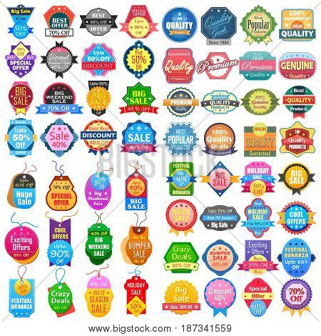 vector illustration of Sale and Promotion label tag sticker for Advertisement