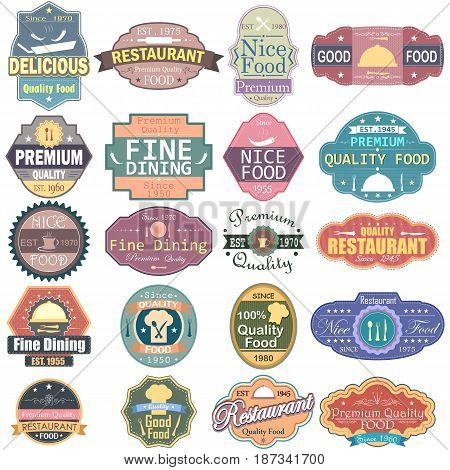 vector illustration of  Premium Quality Food label tag sticker for Advertisement