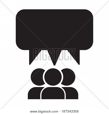 many person and talking balloon icon vector illustration design