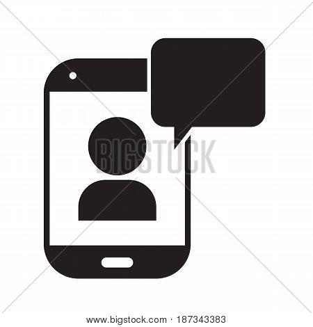 telephone chat icon vector illustration design symbol
