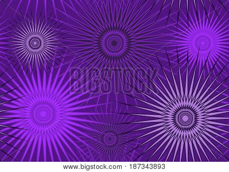 Pattern seamless from circles with lots of rays in lilac tones, for fabric, background and other uses