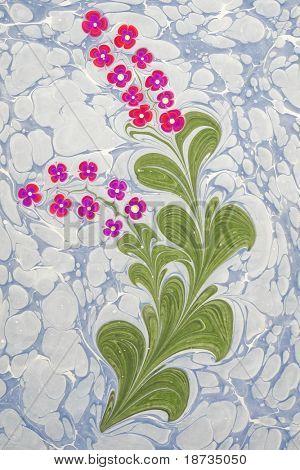 Marbled paper artwork background