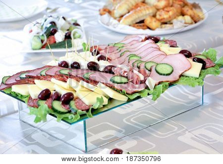 Food ,appetizer, Catering Concept,