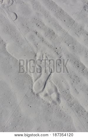 foot prints in the sand at Siesta Key beach Florida