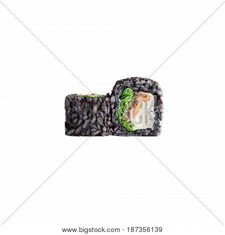 Sushi rolls on a white background. Japanese food. Nigiri rolls