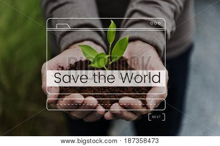 Save The World Message Box Window Graphic