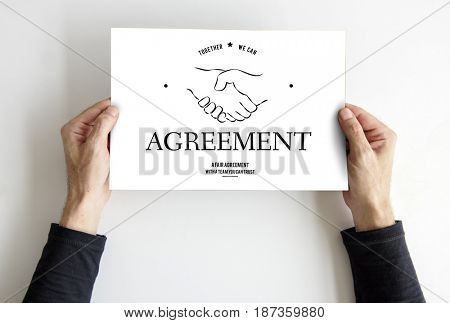 Agreement Partnership Teamwork Support Handshake Graphic