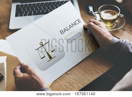 Law rights apps concept on a card