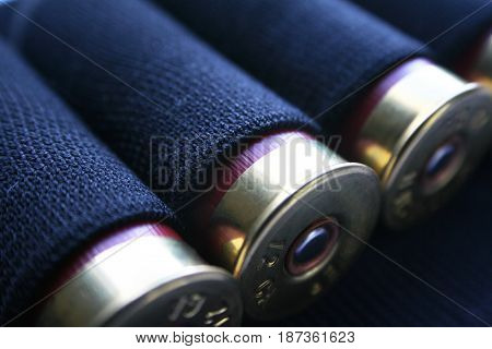 Shotgun Shells Close Up High Quality  Stock Photo