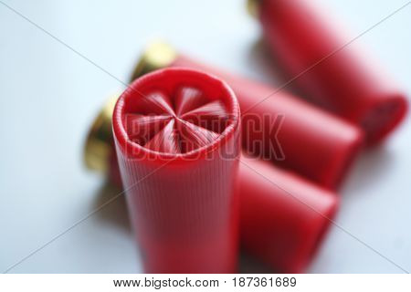 12 Gauge Shotgun Shells Close Up High Quality