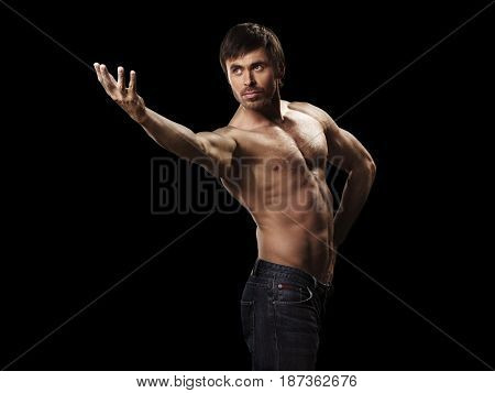 Muscular Handsome Sexy Guy Posing