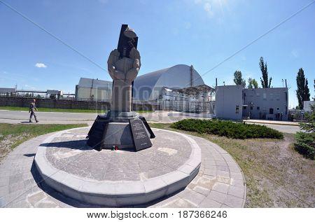 Chernobyl nuclear power plant.May 19, 2017.Kiev region.Ukraine