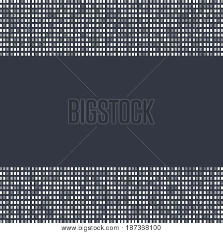 Banner Gray Squares. Poster Abstract Rectangles. Gray Background. Halftone Effect. Vector Illustrati