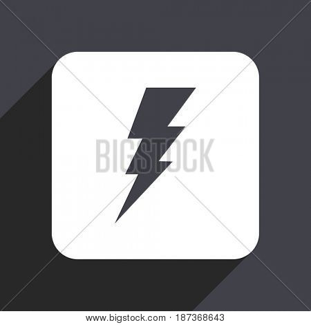 Bolt flat design web icon isolated on gray background