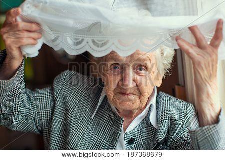 Psychological portrait of an elderly woman.