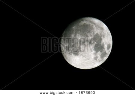 Full Moon On The Night Sky Background