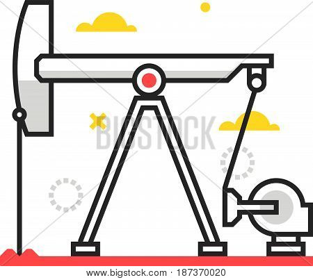 Color Box Icon, Oil Pump Illustration, Icon