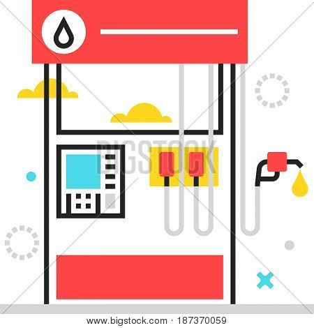 Color Box Icon, Gasoline Station Illustration, Icon